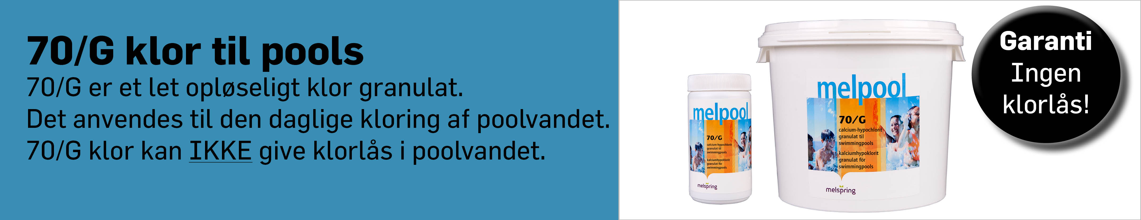 Klor til din swimmongpool